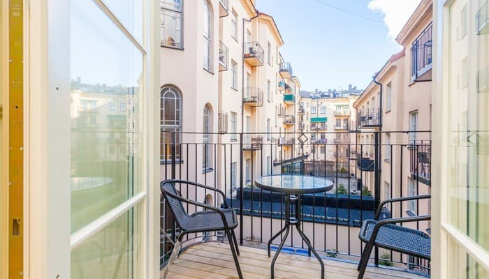 aparthotel stockholm city centre ApartDirect Sveavägen - standard one bedroom - balcony with a view