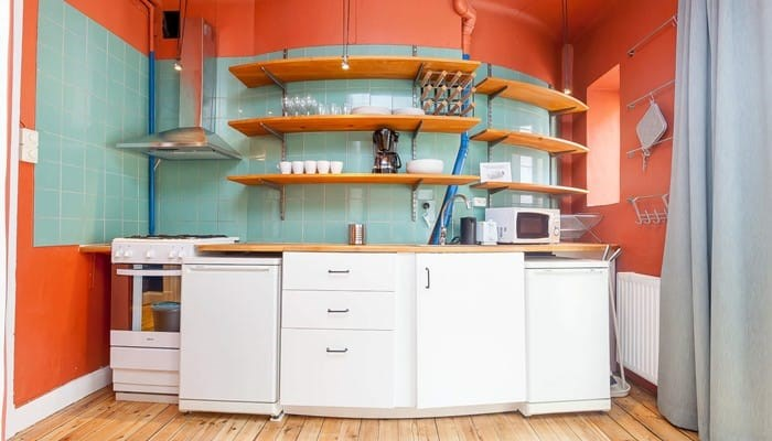 vacation apartment rentals stockholm city  - kitchen colourful studio aparthotel sveavägen