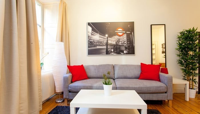 serviced apartments apartment hotel stockholm: studio with sofa bed - sofa area