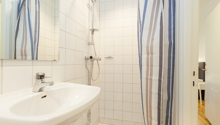 Apartment hotel central stockholm: small studio for rent -  bathroom