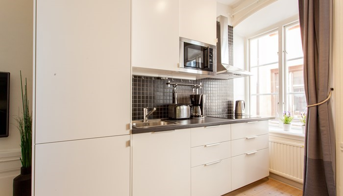 aparthotel stockholm old town: superio one bedroom apartment - cooking facilities