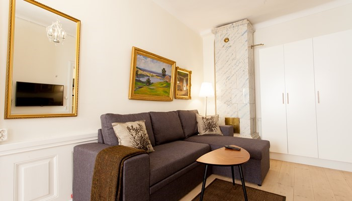 aparthotel stockholm old town: superio one bedroom apartment - sitting area