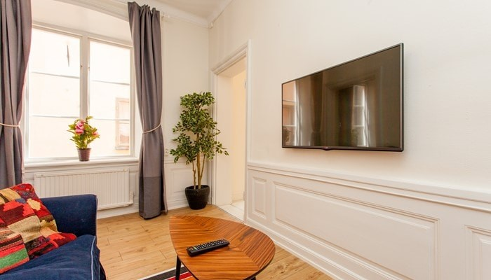 hotel apartment stockholm old town: standard one bedroom - sitting area
