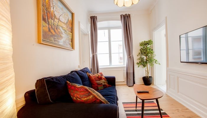 hotel apartment stockholm old town: standard one bedroom - TV area